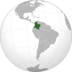 Location Map of Colombia in South America Source httpwildcity