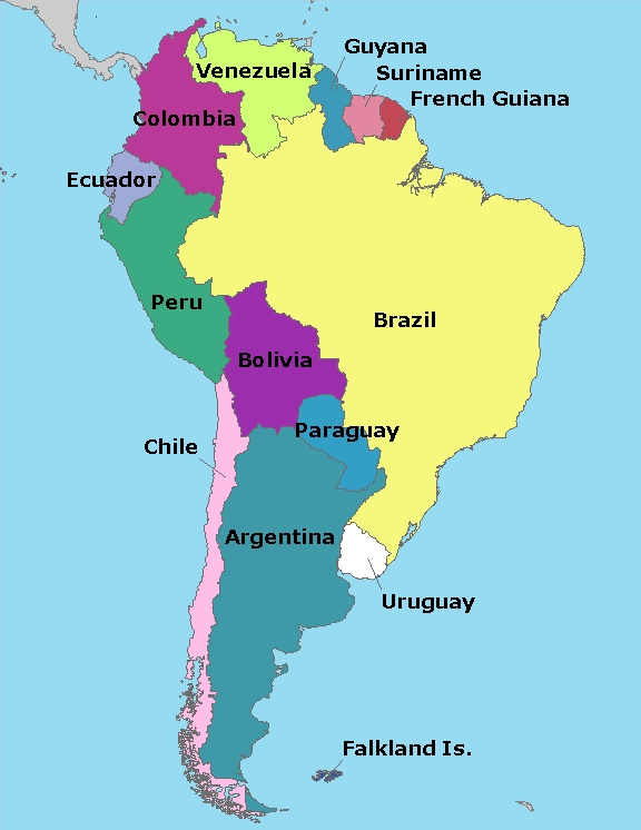 Map Of South America Elizabeth The Blogger - S america map
